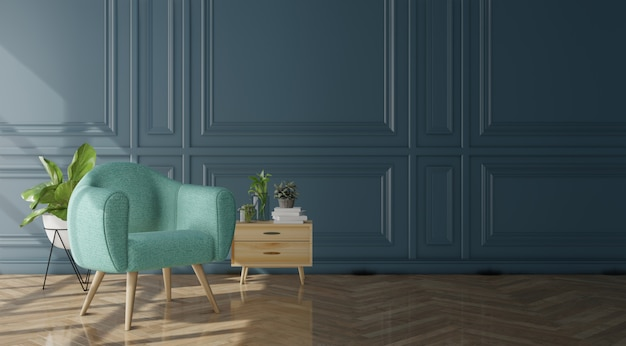 Modern living room interior Premium Photo