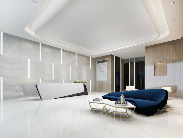 현대적인 고급 호텔 및 사무실 리셉션 프리미엄 사진