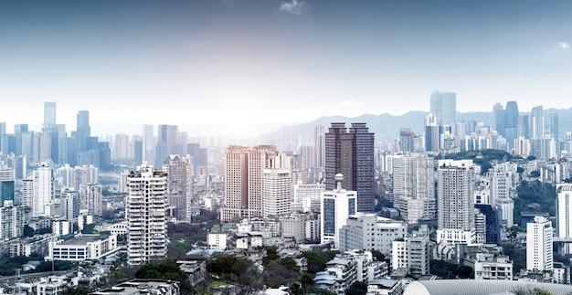 현대 메트로폴리스 스카이 라인, 충칭, 중국, 프리미엄 사진