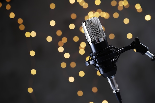 Modern microphone Free Photo