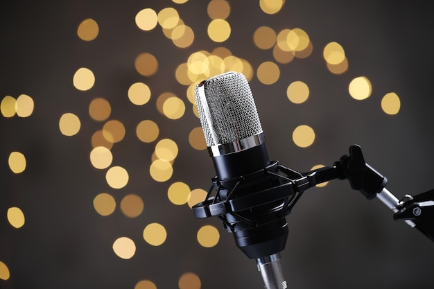 Modern microphone Free Photo