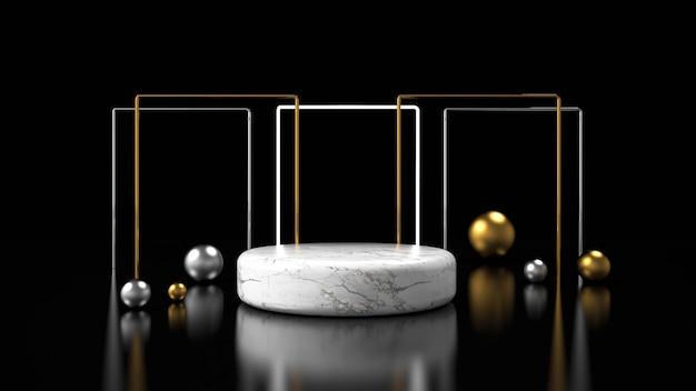 Modern minimalist mockup podium display Premium Photo