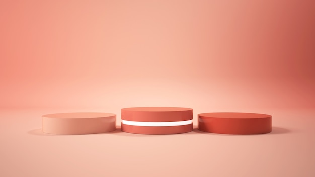 Modern minimalist podium display Premium Photo