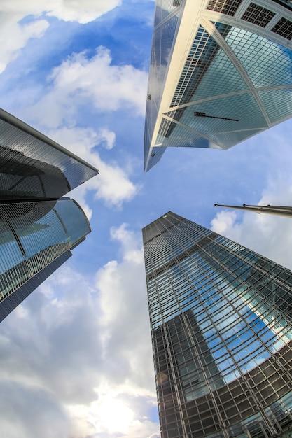 Modern office buildings Premium Photo