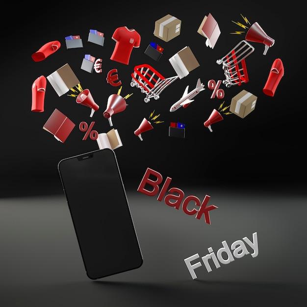 Telefono moderno per vendita venerdì nero Foto Gratuite