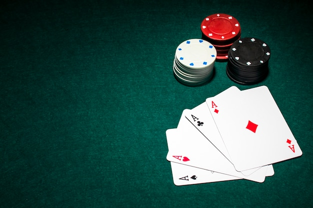 Modern poker cards composition Free Photo