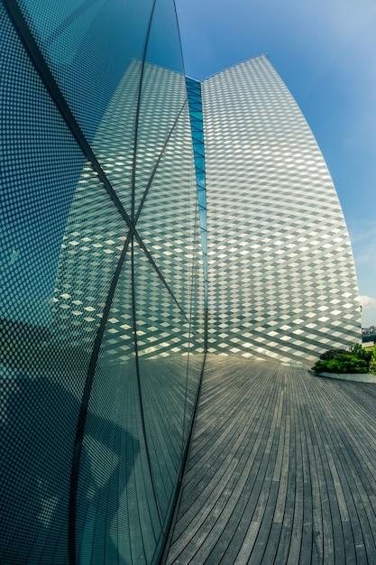 Modern skyscraper in vilnius, lithuania Premium Photo