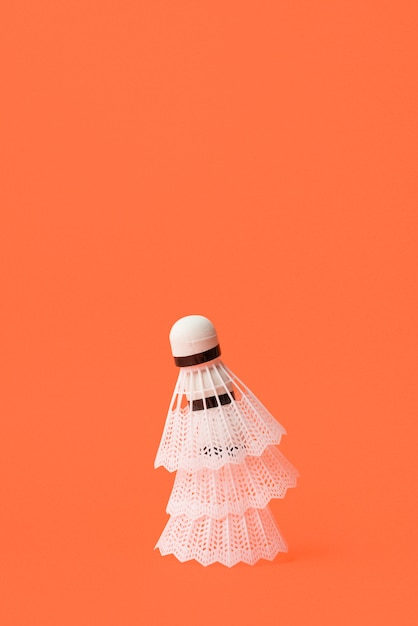 Modern sport composition with badminton elements Free Photo