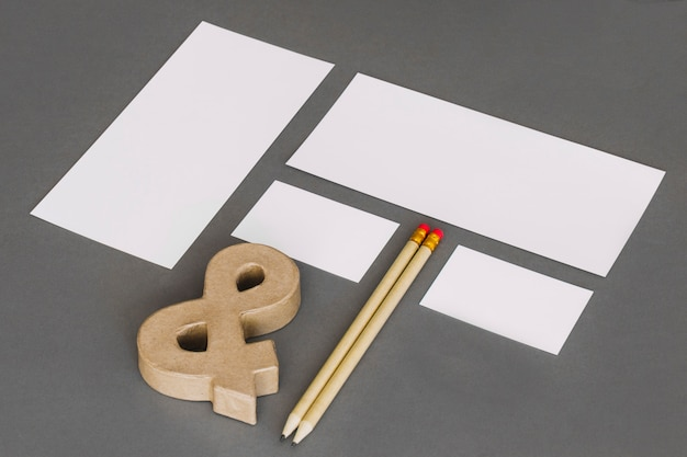Modern stationery concept Free Photo