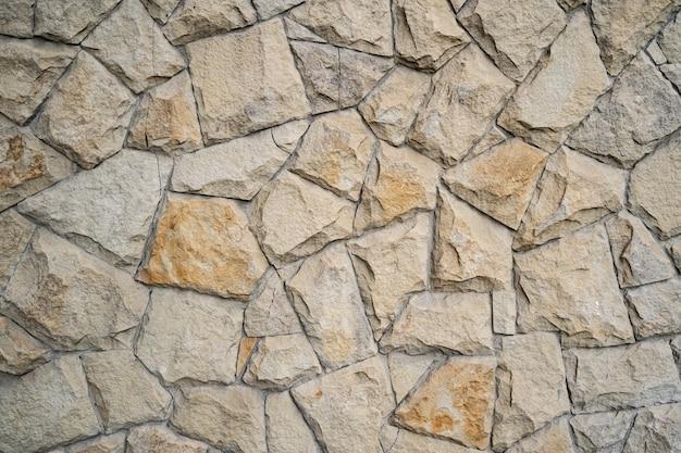 モダンな石レンガの壁の背景。石のテクスチャ。 無料写真