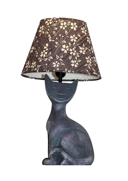 Modern table lamp isolated on white. Premium Photo