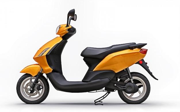 Modern urban orange moped Premium Photo