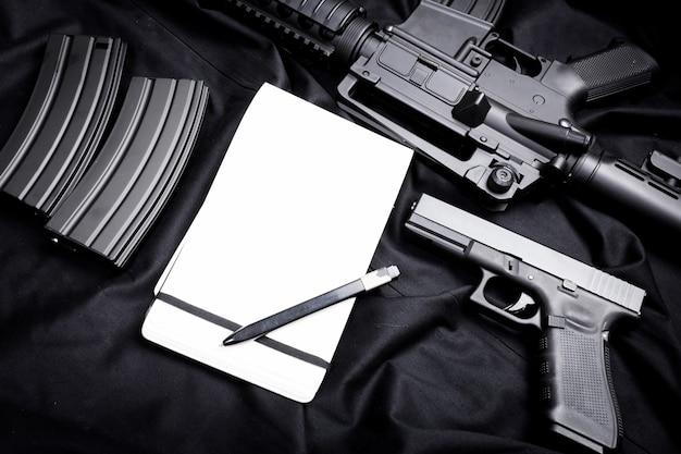 Modern weapon, black Premium Photo