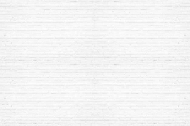 Modern white brick wall texture background Premium Photo