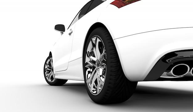 Modern white car Premium Photo