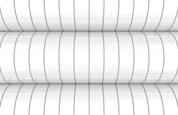 Modern white cylinder curve wall background Premium Photo