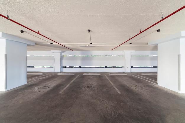 Modern white parking garage interior Premium Photo
