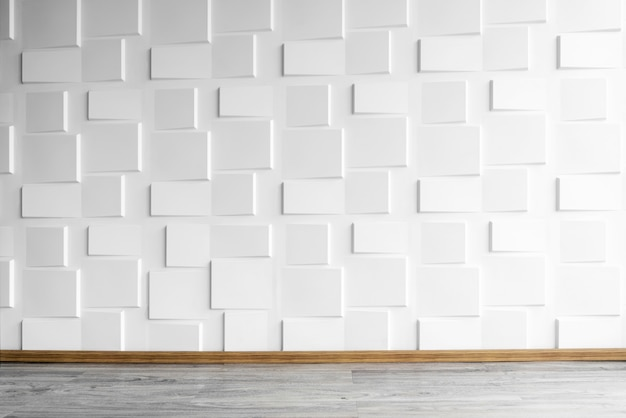Premium Photo Modern White Wall With Wooden Floor With Window Light Abstract Background From Concrete W
