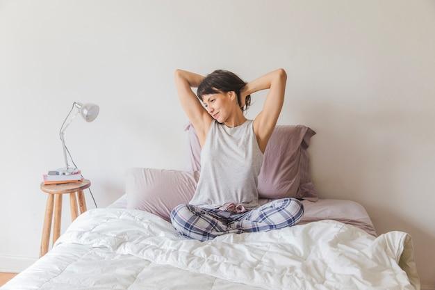 Modern woman waking up Free Photo