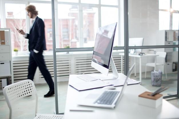 Modern workplace Free Photo