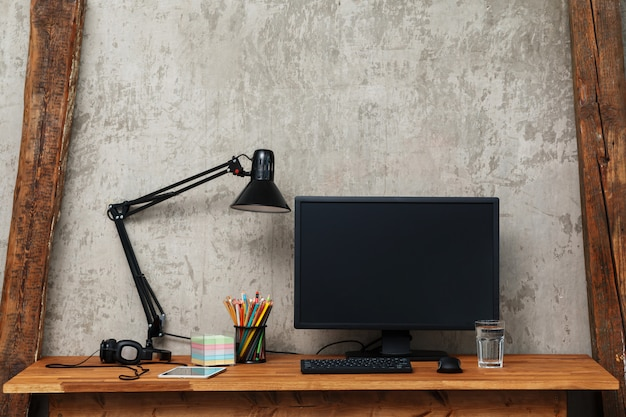 Modern workplace Premium Photo