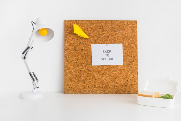 Modern workspace for students with corkboard Free Photo