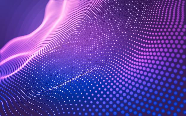 Молекулы фон с многоугольниками Premium Фотографии