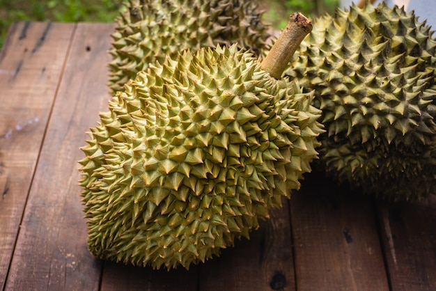 Mon thong durian fruit from thailand Premium Photo