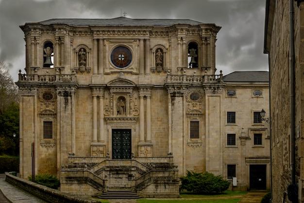 Monastery Of Samos In Sarria Lugo Premium Photo