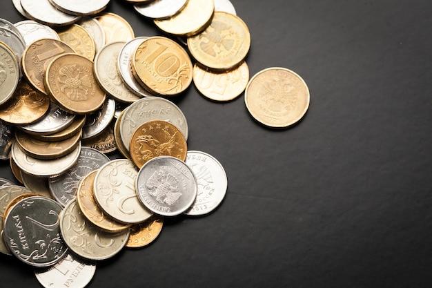 Money. money close. russian money - rubles Premium Photo