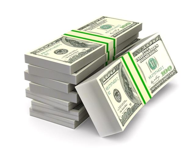 Money on white space Premium Photo