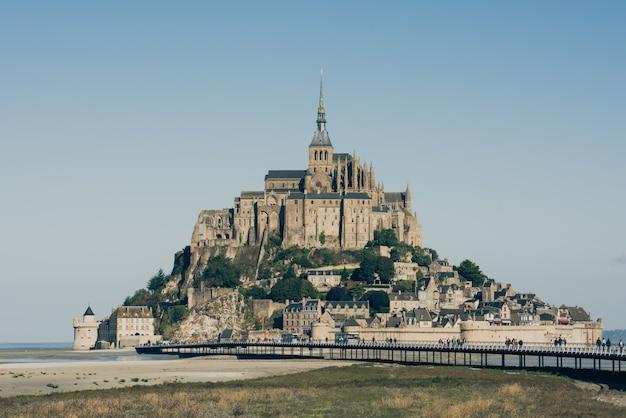 Mont saint michel abbey Premium Photo