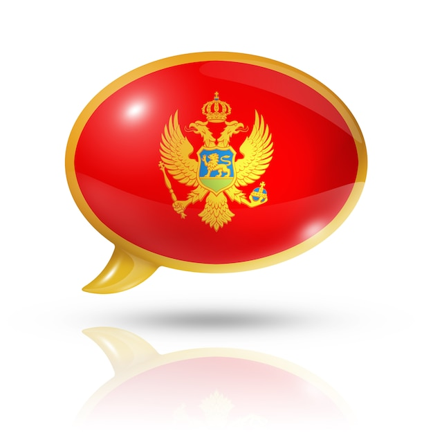 Montenegro flag speech bubble Premium Photo