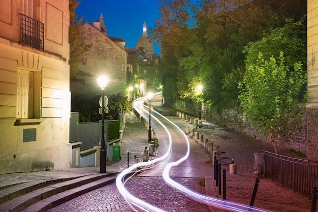 Монмартр в париже, франция Premium Фотографии