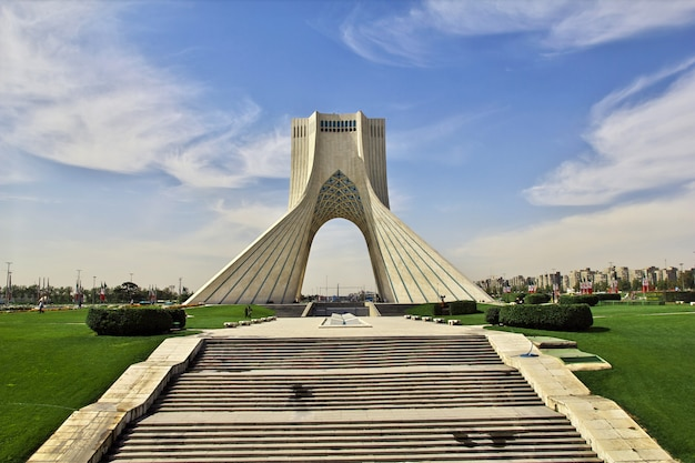 Monument in tehran city of iran Premium Photo