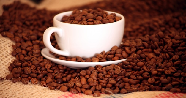 Morning coffee with Beans  Premium Photo