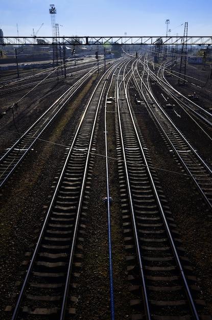 Morning railway landscape Premium Photo