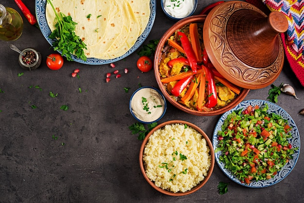 Moroccan food Premium Photo