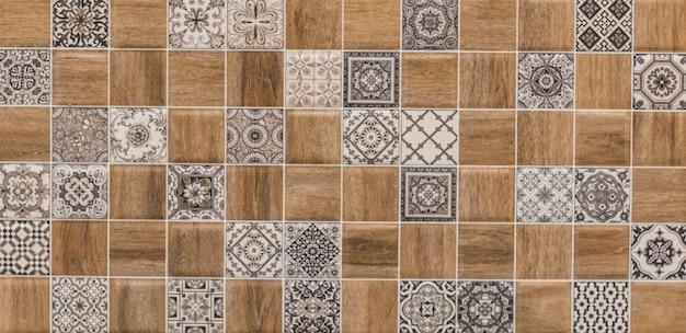Mosaic abstract geometric pattern ceramics tile