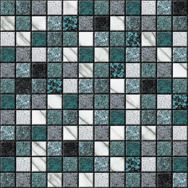 흰색과 녹색 대리석 모자이크. 인테리어 디자인 요소. 세라믹 타일. 매끄러운 질감 프리미엄 사진