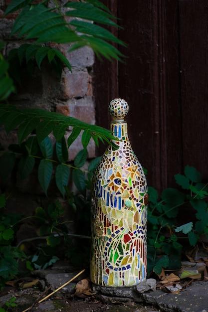 Mosaic lamp on the window Premium Photo