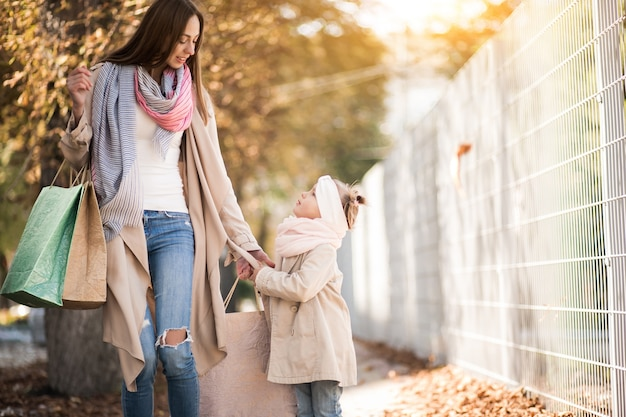 Mother and daughter shopping Free Photo