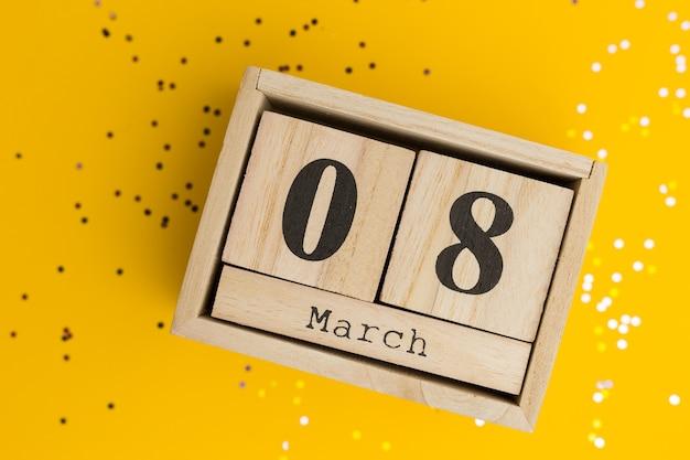 木製カレンダーの母の日 Premium写真