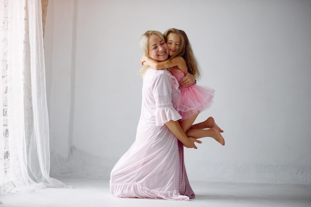 Mother and little daughter have fun at home Free Photo