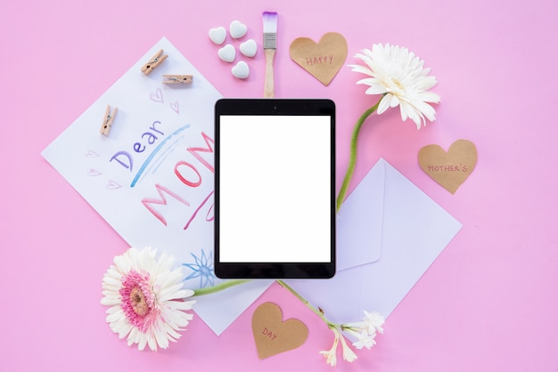 Mother`s day frame tablet Free Photo