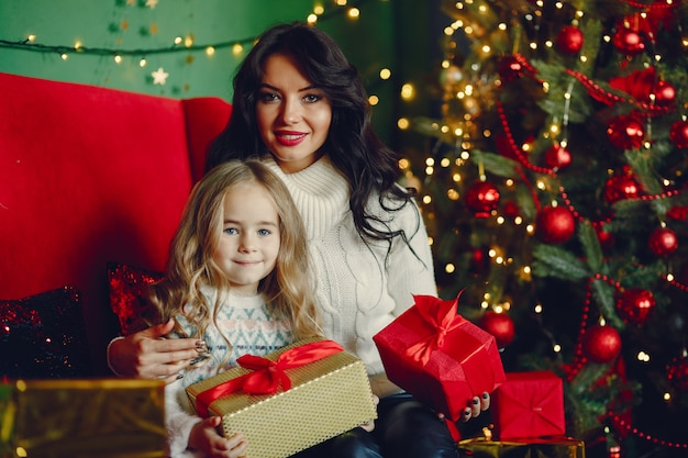 Mother with cute daughter Free Photo