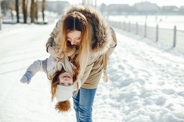 Mother with daughter Free Photo