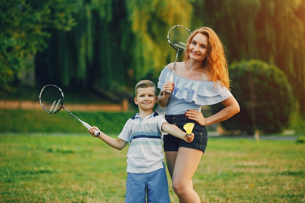 Mother with son Premium Photo