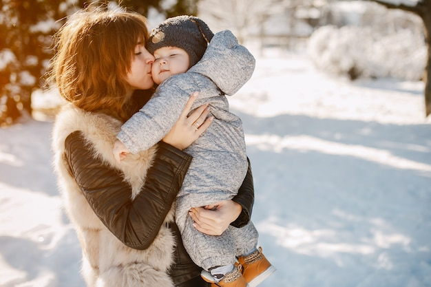 Mother with son Free Photo
