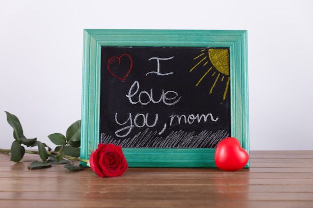 Mothers day presentation with chalkboard Photo | Free Download